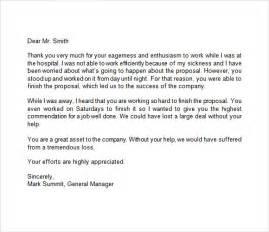 appreciation letter templates appreciation letter 9 free samples examples format