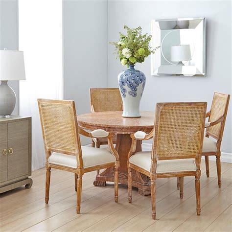 Pinney Coastal Beach White Wash Natural Wood Dining Table