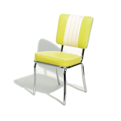 chair dining metalcraft retro yellow chair pads cushions