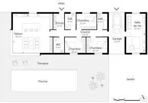 plan maison tout en longueur inspirations avec plan maison With plan maison en longueur