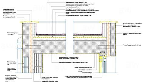 isolamento terrazza calpestabile finestre antisfondamento particolare copertura piana dwg