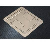 four compartment single or multi service recessed floor