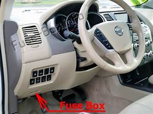 Fuse Box Diagram Nissan Murano  Z51  2009