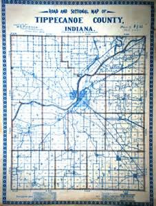 Tippecanoe County Indiana Township Map