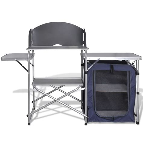 vidaxlcouk foldable camping kitchen unit