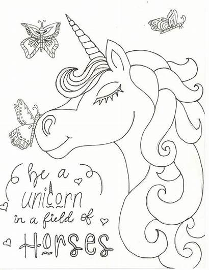 Unicorn Coloring Pages Puppy Among Spring Field