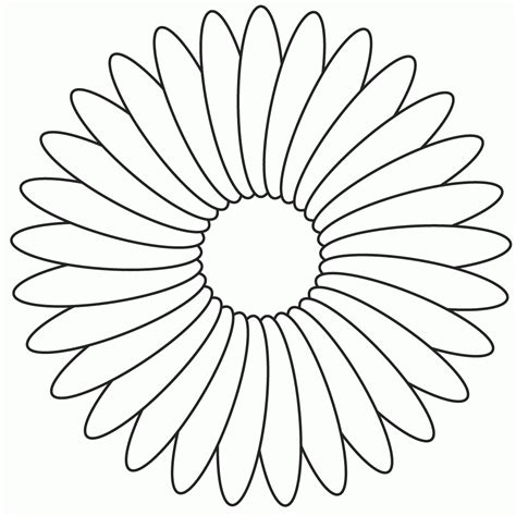 Coloring Flower by Free Flower Petals Coloring Pages Coloring Home
