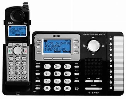 Phone Cordless Line System Answering Digital Rca