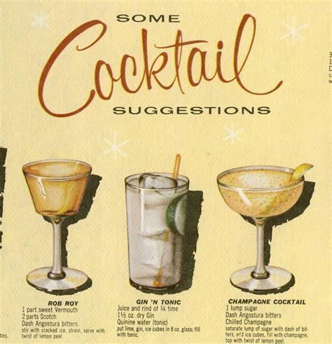 vintage cocktail vintage 1950s cocktail placemat