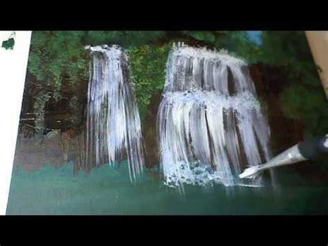 wasserfall malen fuer anfaenger   paint  waterfall