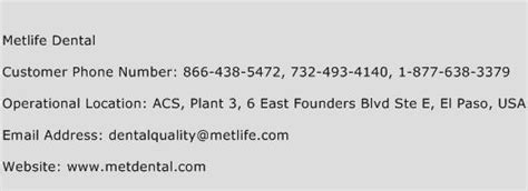 metlife dental number metlife dental customer service