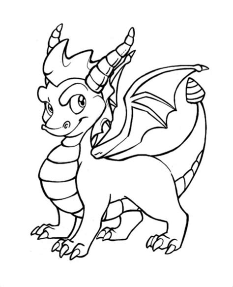dragon drawing template   documents