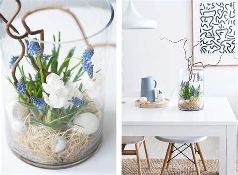 fruehling im glas glasvasen dekorieren glaeser dekorieren