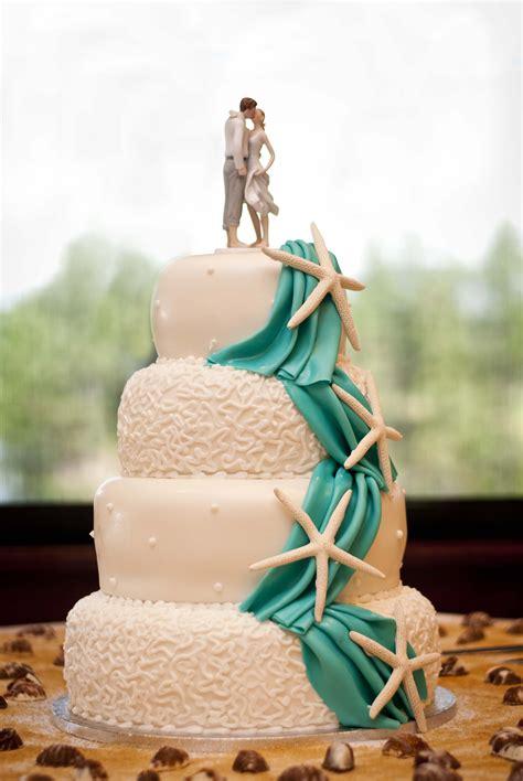 Memorable Wedding Wedding Cake For Beach Wedding Theme
