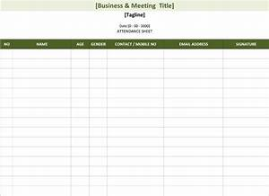 2016 attendance sheet template search results calendar for Meeting attendance list template