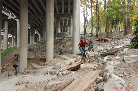 Each section of the ride. Bike Parks: I-5 Colonnade and Duthie Hill, Seattle, WA - Singletracks Mountain Bike News