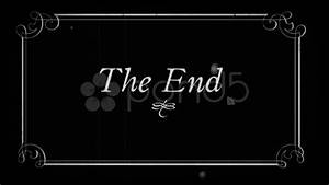 OldFilm The End, Fin, end Title ~ Stock Video #7745660