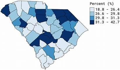County Poverty Level Carolina South Report Data
