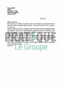 Declaration De Sinistre Auto : lettre d claration de sinistre et d g t des eaux l ~ Gottalentnigeria.com Avis de Voitures