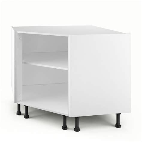 caisson de cuisine bas d 39 angle pc100 delinia blanc l 100 x