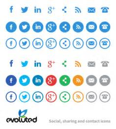 free social media contact icons think tank