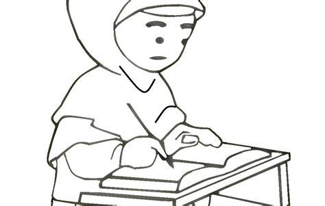 gambar kartun anak muslim belajar medsos kini