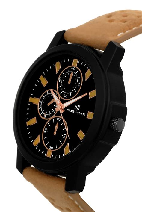 timewear analog black dial mens  offermx