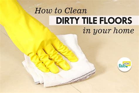 how to clean tile floors with vinegar and baking