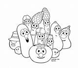 Coloring Pages Veggie Tales Pickle Dave Giant Veggietales Printable Colouring Disney Larry Baby Peacock Paisley Benny Shack Rack Popular Activity sketch template