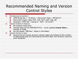 irb approval process With documents version control