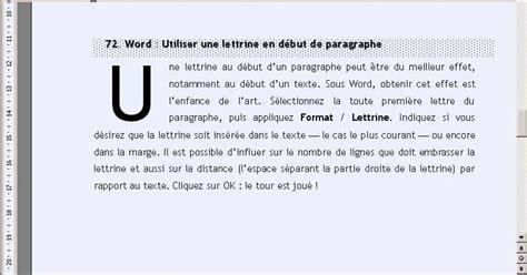 sous original bureau word créer une lettrine en début de paragraphe