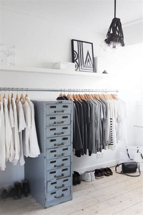 minimalist clothing rack 30 chic and modern open closet ideas for displaying your