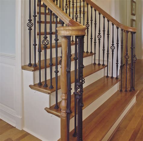 home depot stair railings interior custom iron stair balusters traditional staircase by custom hardwood stair parts