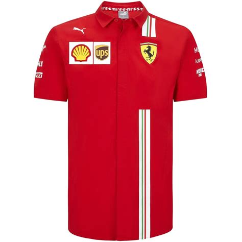 Step up your support with the new ferrari team jacket, designed with all team and sponsor logos and adjustable cuffs. Scuderia Ferrari F1 Men's 2020 Team Shirt Red