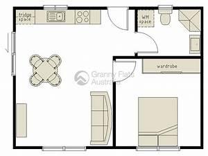 1 bedroom granny flat archives granny flats australia With 1 bedroom floor plan granny flat