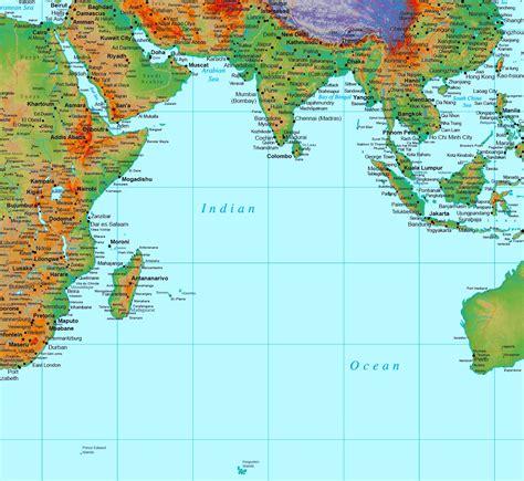 detailed map  indian ocean