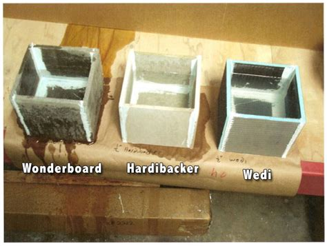 Hardibacker Tile Backer Board by Backer Board Or Cement Board Comparison Review Floor