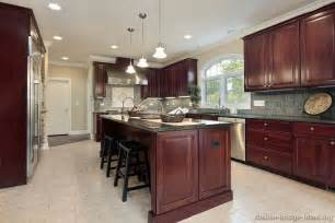 kitchen island cherry wood pictures of kitchens traditional wood cherry color kitchen 49