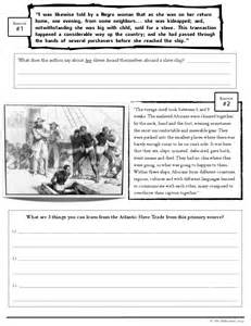 Atlantic Slave Trade Worksheet