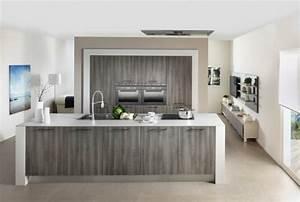 Ilot central de cuisine en 30 idees originales for Idee deco cuisine avec ilot cuisine gris