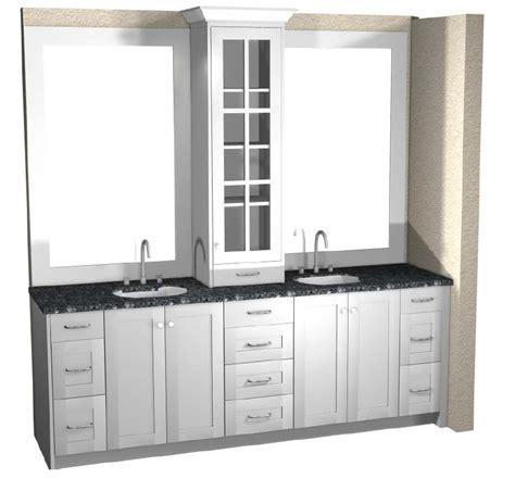 master vanity  upper cabinet layout tutorial