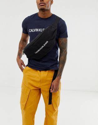 calvin klein jeans monogram logo extra large bum bag