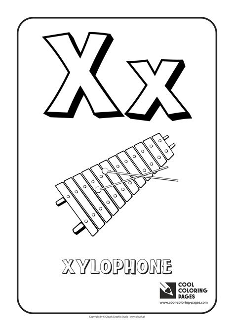 Coloring X Letter Page by Cool Coloring Pages Alphabet Coloring Pages Cool