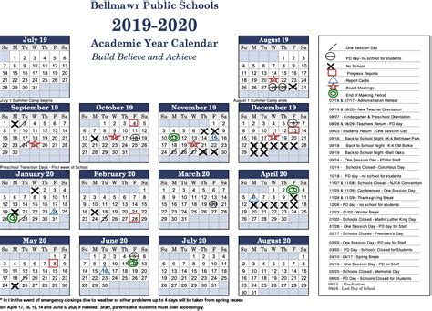 calendar bellmawr public school district