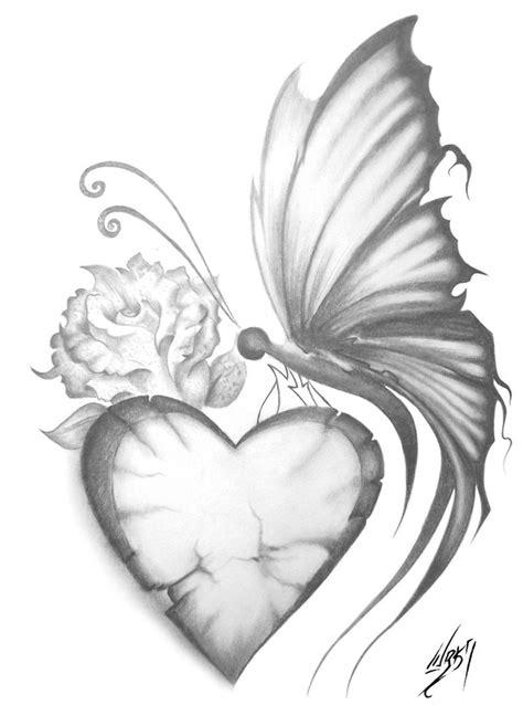 butterfly & heart | Butterfly drawing, Drawings, Beautiful