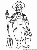 Farmer Coloring Contadino Colorare Disegno Colorear Colorir Agricultor Fermier Coloriage Disegni Ausmalbilder Bauer Zum Farmers Dell Dibujo Sheets Boer Ausdrucken sketch template
