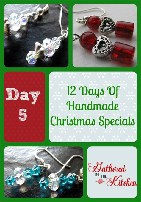 12 handmade s day 12 days of handmade christmas specials day 5 earrings