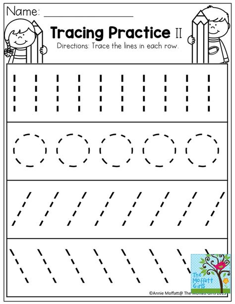 tracing lines circles writing tracing worksheets