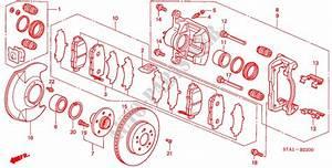 Front Brake For Honda Cars Stream 1 7ls 5 Doors 5 Speed Manual 2002   Honda Cars