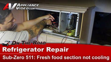 sub zero refrigerator not cooling diagnostic compressor relay start capacitor